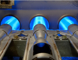gas burners in furnace