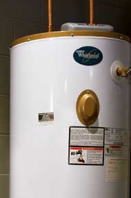 Storage water heater is the most common type. Photo: Whirlpool
