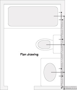 bathroom layout plan for controlling remodeling costs