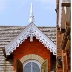 architectural detailing on house exterior