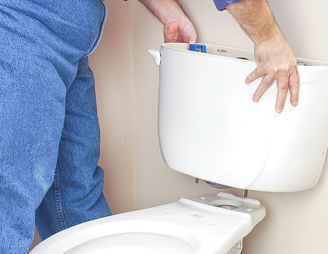 how to install a toilet tank
