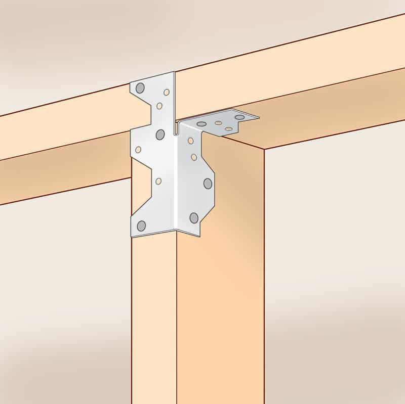 Stud-framing clips attached to each wall stud.