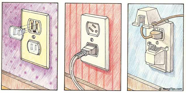 childproofing electrical receptacles