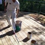 cleaning a wood deck
