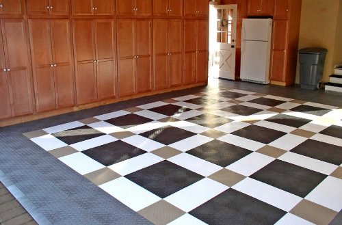 Polypropylene floor grids snap together and provide a handsome, durable floor that can withstand extremely heavy moving loads. Photo: Incstores