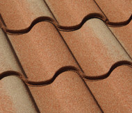 Granulated-stone finished metal tile roof.