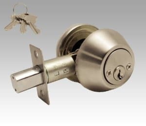A keyed deadbolt adds a higher level of security to an exterior door. Photo: Constructor