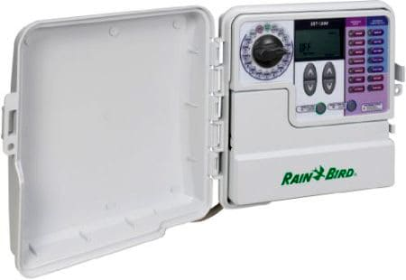 Automatic timer offers flexible control for multiple sprinkler circuits. Photo: Rain Bird