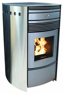 Contemporary pellet stove offers both style and substance.