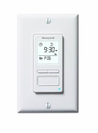 Programmable light switch offers up to 7 different settings plus manual override. Photo: Honeywell