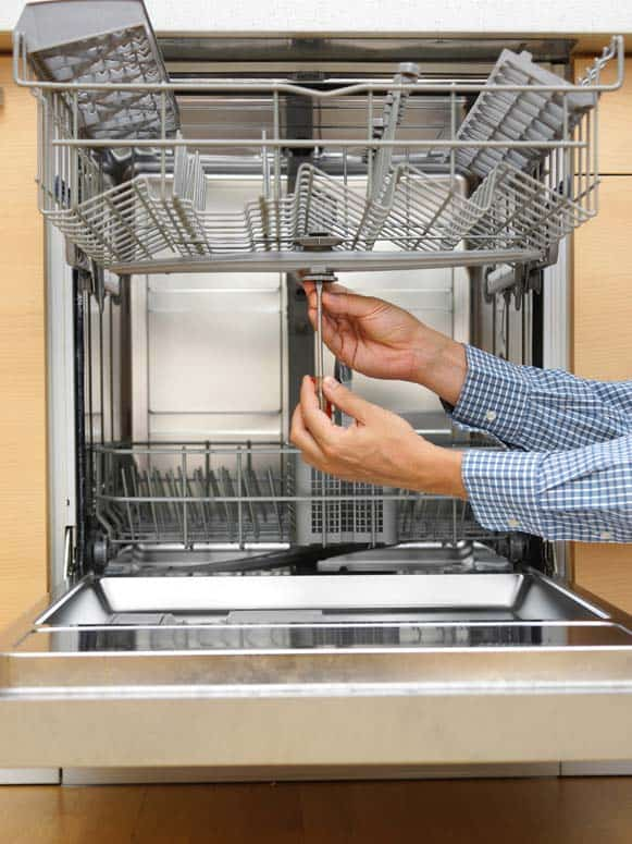 If your dishwasher does a poor job of cleaning dishes, make sure nothing is obstructing the spray arms, and ensure that the upper spray arm turns freely.