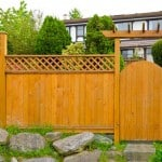 board and lattice fencing