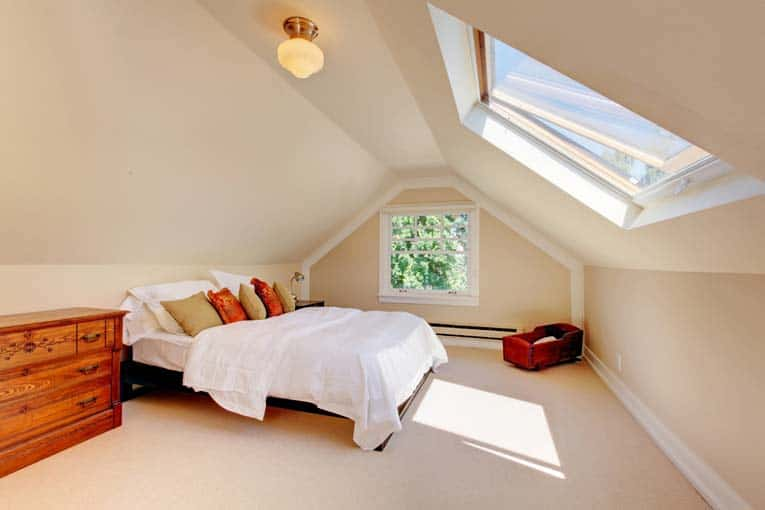 attic bedroom skylight