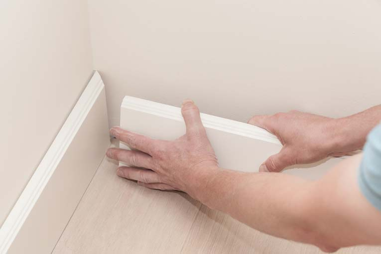 The best joint for inside corners is a 45-degree miter. Accurate measurements are a key to success.