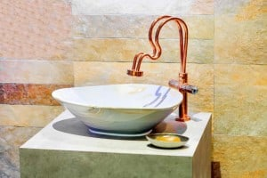 bath faucet and sink bowl