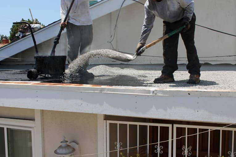 hot mop roofing installation