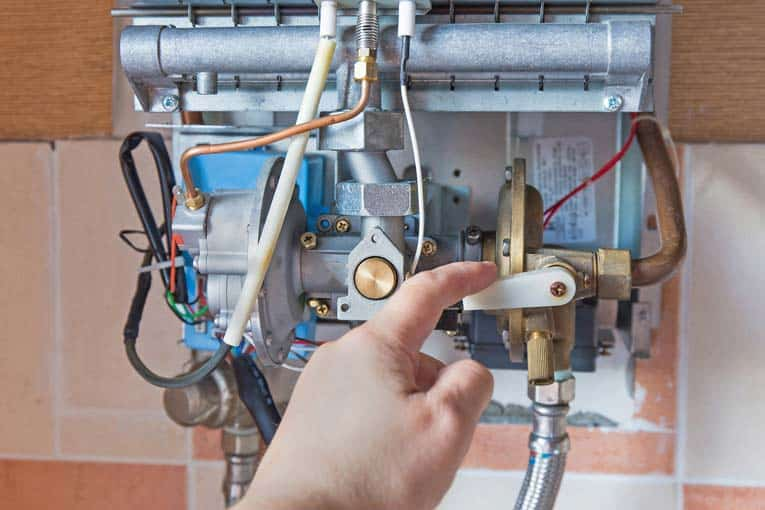 Tankless water heater needs to be kept clean inside and properly adjusted for efficient heating.