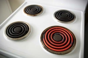 The best way to deal with a faulty electric element on a stove is to replace it.