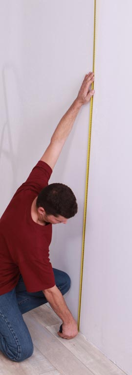 Measuring the wall you intend to cover with wallpaper is a crucial first step when wallpapering.
