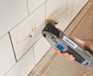 oscillating multi-tool grinds grout