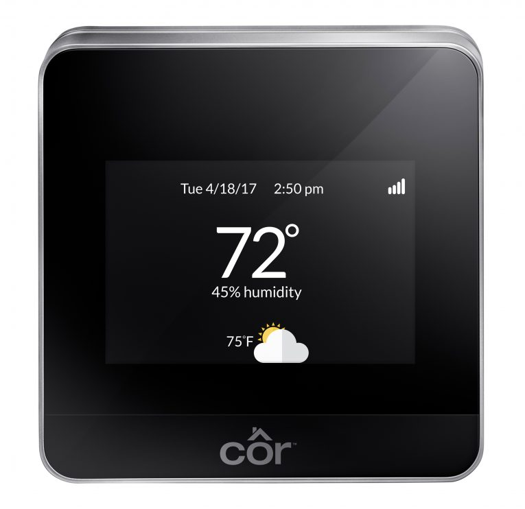 Carrier Cor thermostat display
